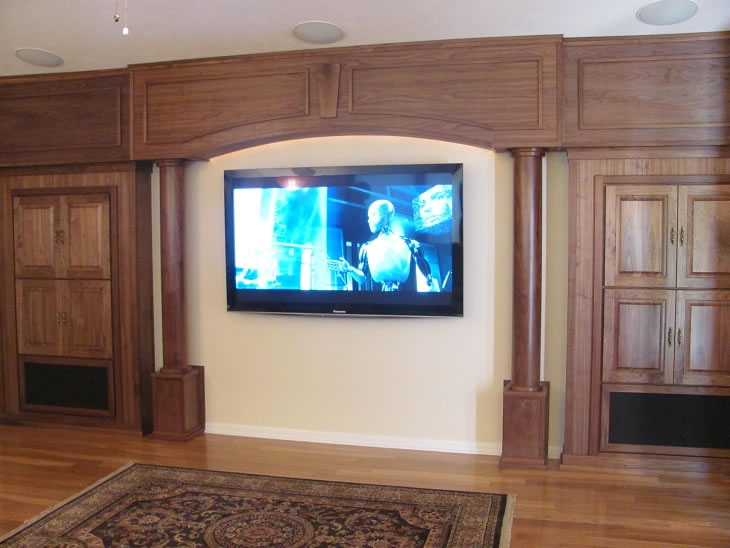 Home Theater Built in Cabinets